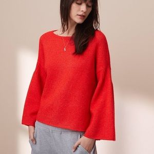 Anthropologie Lou & Grey Rib Bell Sleeve Sweater
